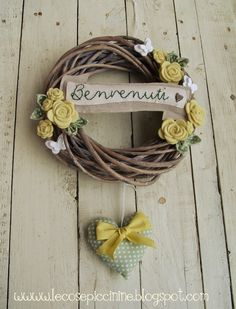 Le cose Piccinine  - Spring Welcome Wreath