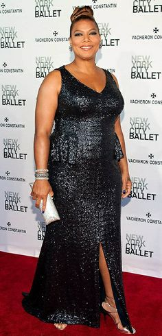 Queen Latifah - Plus size curvy red carpet celebrity fashion