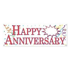 Beistle 57516 Happy Anniversary Sign Banner 5Feet by 21Inch ** You can get additional details at the image link.