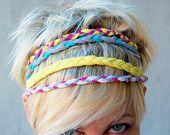 braided cotton jersey headband