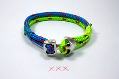 neón náutico braceletmaritime cordparachute Por Yalos en Etsy