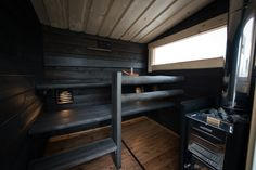 Salvosksen toeuttamia mökkiunelmia Outdoor Sauna, Sauna Room, Spa Rooms, Massage Room, Saunas, Log Homes, Jacuzzi, Tiny House, Sweet Home