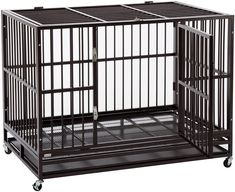 (This is an affiliate pin) Sliverylake 3XL 48'' Dog Cage, Dog Crates for Large Dogs Dog Kennel - Heavy Duty Double Door Pet Cage w/Metal Tray Wheels Exercise Playpen (48'', Golden) Dog Cages, Pet Cage, Metal Trays, Playpen, Double Doors, Large Dogs, Crates, Pet Supplies, Pets