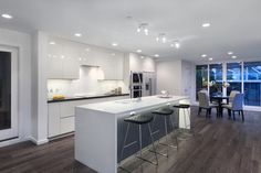 Under bar lighting - Projekt Keil - modern - kitchen - vancouver - Projekt Homes Ltd