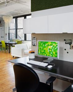 Open Work Area With Offices Behind Glass Walls In New York City By The Switzer Group