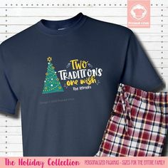 Get our Short Sleeve Two Traditions Pajamas and don't buy two sets of Christmas Pajamas or Hanukkah Pajamas. #matchingchristmaspajamas #christmaspajamas #familychristmaspajamas #polarexpresspajamas #christmas #holidaypajamas #christmasgift #christmasphotoideas #pajamas #personalizedpajamas #christmas2020 #christmas #pressed4fun #p4f #fununiquecute #holidaypartyoutfit #holidaygift #holidaypartyideas #holidayparty Matching Christmas Pajamas, Family Christmas Pajamas, Holiday Pajamas, Christmas Shirts, Christmas Hanukkah, Easter Pajamas, Personalized Pajamas, Black Jogger Pants, Holiday Party Outfit