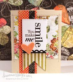You make me smile card:)