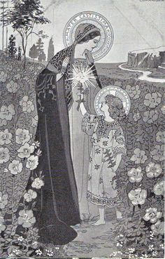 Mater Castissima, Mother Most Chaste from a series of 38 postcards dating from approximately 1915 to 1920 by Ezio Anichini