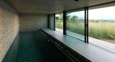 construction piscine intérieure baies coulissantes - Arch and Home