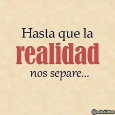 Hasta que la realidad nos separe….