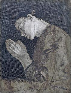 Praying Girl by Käthe Kollwitz, 1892