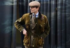Barbour - Tommy Ton's Street Style: Pitti Uomo Tommy Ton, Barbour Clothing, Wax Jackets, Smart Jackets, Gents Fashion, Gentleman Style, Gentleman Fashion, Warm Outfits, British Style