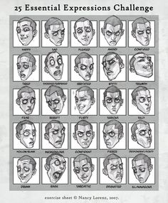 25 essential expressions oRen - Character Design Page