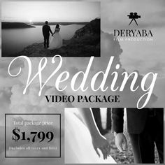 Customize this design with your video, photos and text. Easy to use online tools with thousands of stock photos, clipart and effects. Free downloads, great for printing and sharing online. Square (1:1). Tags: black and white, videographer, wedding, wedding promo, wedding video, Wedding, Professional Services , Wedding