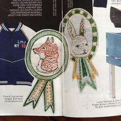 Flipping through August VOGUE!!!!!! We are thrilled to have our merit badges featured here!! Coral & Tusk dream come true!
