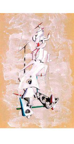 Yves Tanguy • La grue des sables (Nombre complexe), 1946