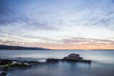 Playa de la Misericordia (Málaga) - Un amanecer estupendo junto al mar.