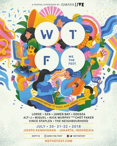 We The Fest 2018 - Poster Contest Winner on Behance Creative Poster Design, Creative Posters, Graphic Design Posters, Graphic Design Typography, Graphic Design Illustration, Graphic Design Inspiration, Event Poster Design, Poster Designs, Digital Illustration