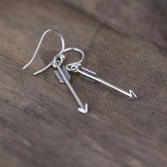 Tiny Arrow Earrings / Mini Sterling Silver Arrow Jewelry