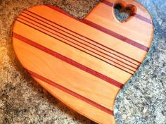 Hand Crafted Heart Shaped Wooden Cutting Board