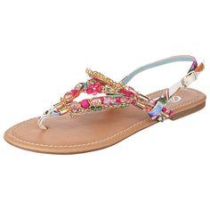 Diese BUFFALO Sandaletten fallen auf! Dafür sorgt nicht nur die sommerlich heitere Farbgebung, sondern auch die glitzernden Schmucksteinchen und Kettchen