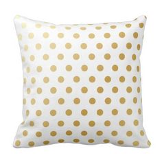 Gold Polka Dots Sample Throw Pillow. ** Check out even more by checking out the image