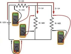 Learn Electrical Engineering for Beginners: Ohm's Law Series-Parallel Circuits Calculation Electronic Engineering, Electrical Engineering, Chemical Engineering, Electrical Wiring, Civil Engineering, Diy Electronics, Electronics Projects, Microcontrolador Pic, Series And Parallel Circuits