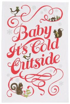 Baby it's cold outside.. get your gloves on!