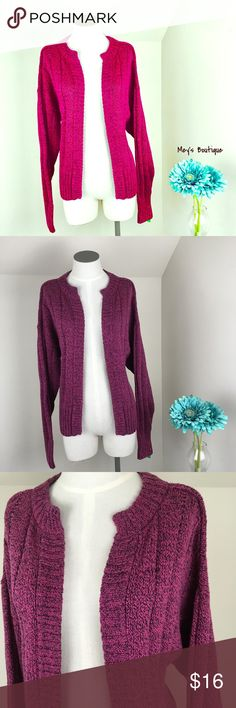 ⭐️Liz Claiborne Wine & Purple Colored Cardigan ⭐️ ⭐️Liz Claiborne Wine & Purple Colored Cardigan ⭐️ Size Medium. Excellent Condition! Very warm and perfect for cool weather. Next day shipping. All sales are final. Liz Claiborne Sweaters Cardigans