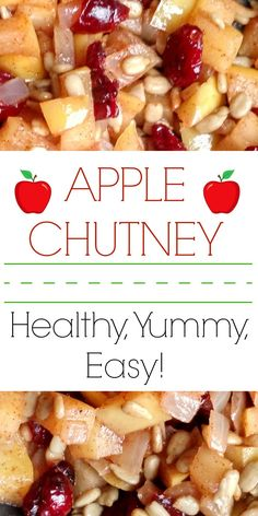 Healthy, Easy, Yummy — Apple Chutney! Prep Time: 5 minutes, Bake Time: 10 minutes Hello, hello everyone! It's been a little while since the Project Pile has done a recipe… we have…