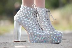 Chloe from Chloe's Addiction in the Jeweled Lita Boots