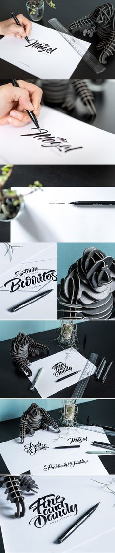 Lettering Logos Collection N°4 on Behance