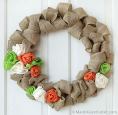 Burlap Bubble Wreath DIY