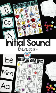 Initial Sound Bingo Sheets - A Dab of Glue Will Do #literacy #earlyreaders #teaching #teachers