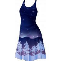 Платье полярное сияние белое
