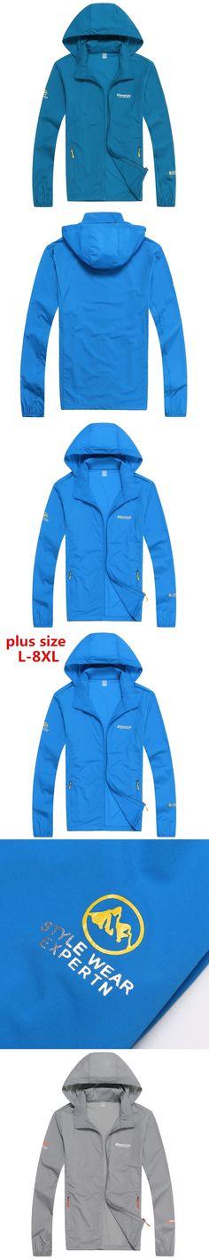 8XL plus size 2017 Stylish Fashion High Quality Jacket Coats Men Causal Hooded Jacket,Men Thin Windbreaker Zipper Coats Outwear