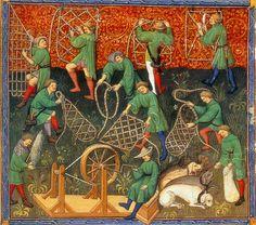 Gaston Phoebus: Book of the Hunt, 1405-10, Manuscript (Ms. français 616), 370 x 280 mm, Bibliothèque Nationale, Paris