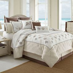 Inspired by the sandy beaches of the Outer Banks, this comforter set transforms your bedroom into a vacation retreat you'll love coming home to every night. This bedding features an assortment of fun seaside accents and is finished with quilted borders.