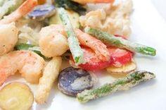 Tempura spring vegetables recipe