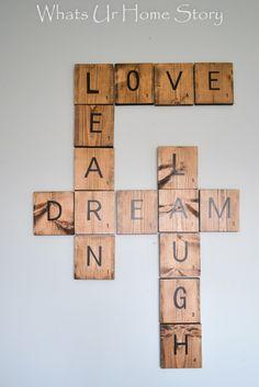 DIY Scrabble Art Tiles-Great Home Decor Craft via @wuhs