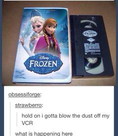 What they have it in VHS! I NEED THIS BECAUSE REASONS