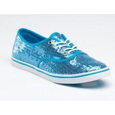 Vans Authentic Lo Pro (Sequins) Hawaiian Ocean/ True White VN-0GYQ5MX Blue Sneakers Shoes Size Women's 9.5/ Men's 8 Vans. $44.99
