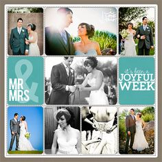 Project Life Wedding Scrapbook Page from Lisa Pate at DesignerDigitals - I could see this as a paper page