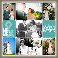 Project Life Wedding Scrapbook Page from Lisa Pate at DesignerDigitals