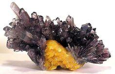 Celestine, Sulphur. Machów mine, Tarnobrzeg, Podkarpackie, Poland. Photo Copyright © Joseph A. Freilich, LLC.    ..z