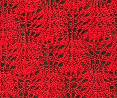 Ostrich Plumes Row 1: Knit all stitches  Row 2: Purl all stitches  Row 3: K4tog, (yo, k1) 5x, yo, k4tog  Row 4: Purl all stitches  Repeat rows 1 – 4 until you have reached your desired length.
