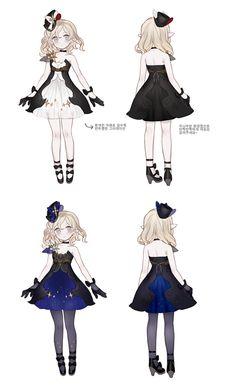 服装 ( 晚礼服 ) : 单肩 , short dress , black , dark blue , white , stars