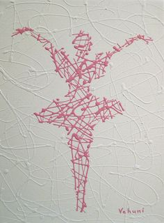 Matrix Ballerina Pink Original Abstract by theartofthematrix, $34.00