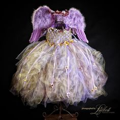 Enchanted Flower Fairy Purple Fairy Gold by enchantedfairyware, $250.00