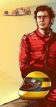 Ayrton Senna - Ilustração - Por Cristiano Siqueira